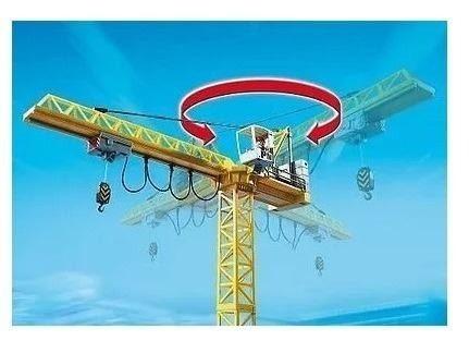 playmobil - city action guindaste 5466 - original completo