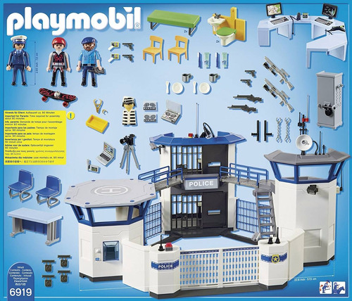 playmobil city action prision maxima seguridad original 6919