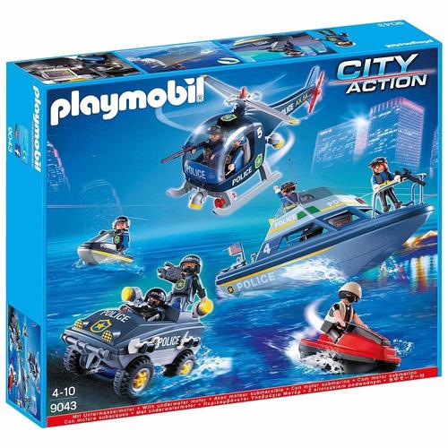 playmobil city action set de policia swat original tv