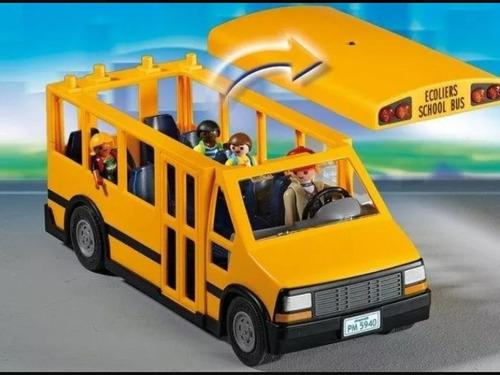 playmobil city life ônibus amarelo escolar 5680