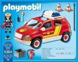 playmobil coche de bomberos c/luz 5364