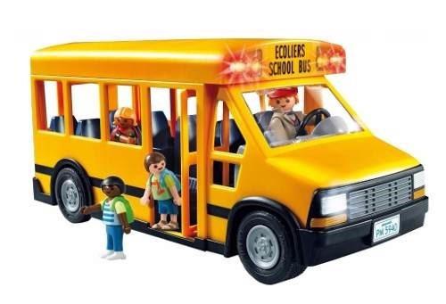 playmobil colectivo micro bus escolar 5940 + 4 figuras