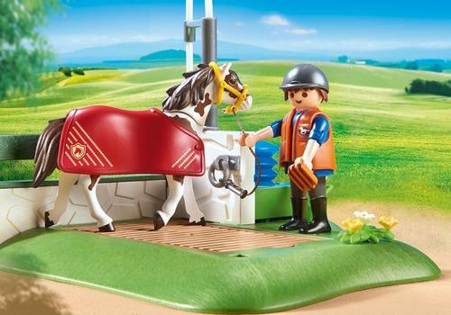 playmobil country estação dos cavalos com bomba d'água 6929