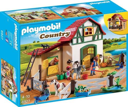 playmobil country fazenda dos poneis 6927