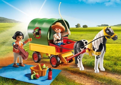 playmobil country picnic con pony y carro art. 6948