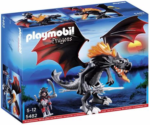 playmobil dragones dragon gigante con fuego led original tv