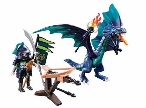 playmobil dragones dragon verde con samurai original tv