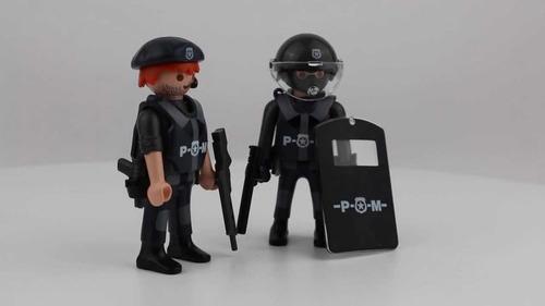 playmobil duo pack 5515 policias original intek