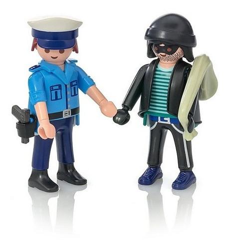 playmobil duo pack policia y ladron 9218 ink educando