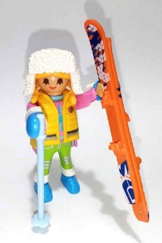 playmobil esquiadora serie 13 sobres fotos reales chica sky