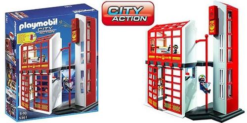 playmobil estacion de bomberos con alarma 5361