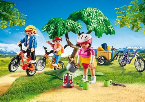 playmobil family fun - paseo en bicicleta - 9155