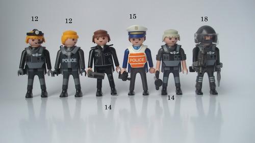 playmobil figuras policías fuerzas del orden original perco