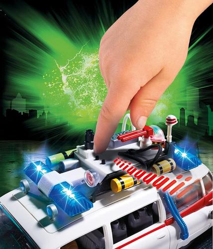 playmobil ghostbusters ecto-1 9220 79 peças caça fantasmas