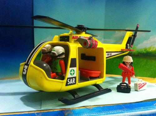Playmobil helicoptero 3845 amarillo de rescatistas alpinos for Helicoptero playmobil