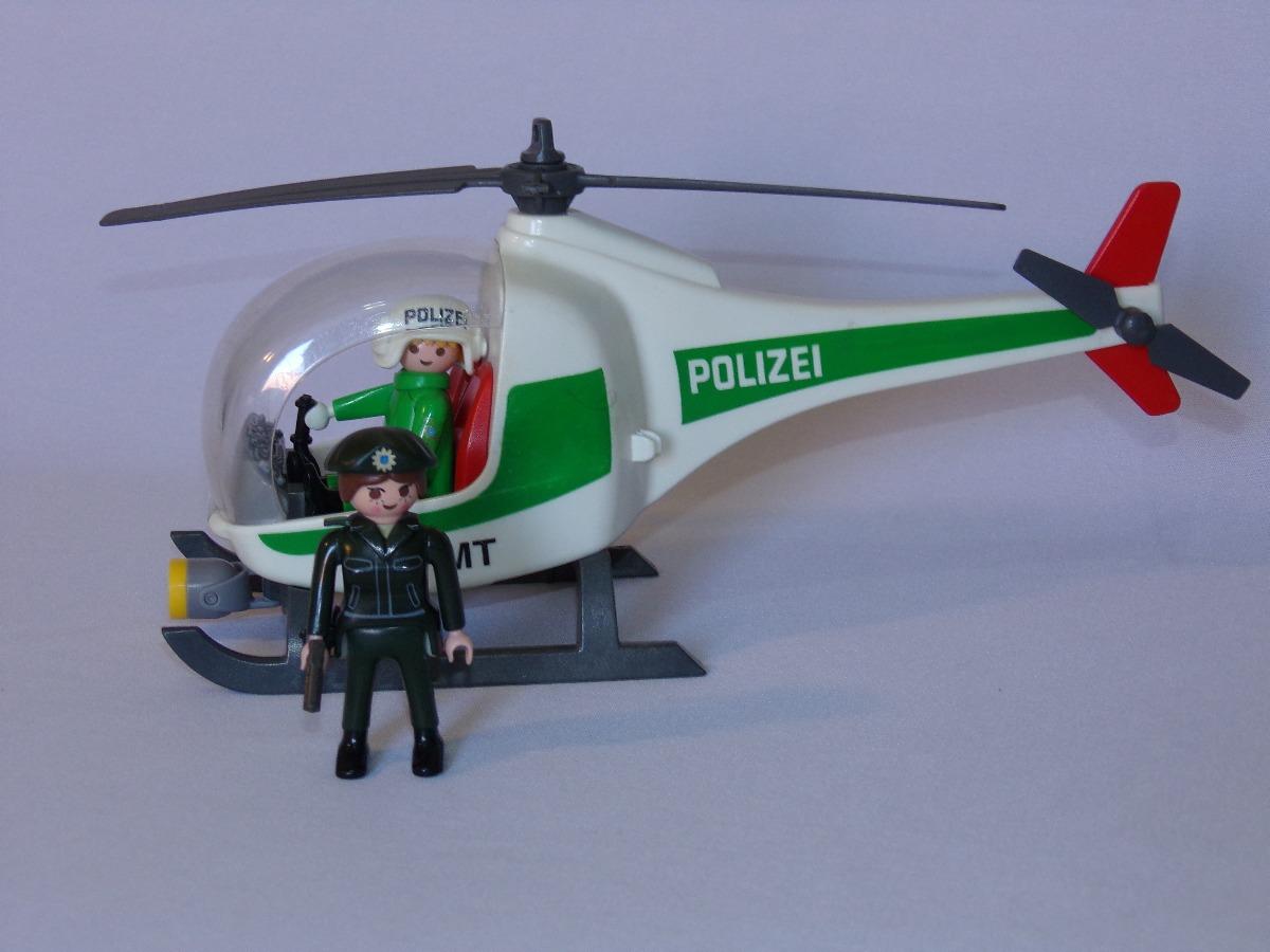 Playmobil helic ptero da pol cia alem r 119 99 em for Helicoptero playmobil
