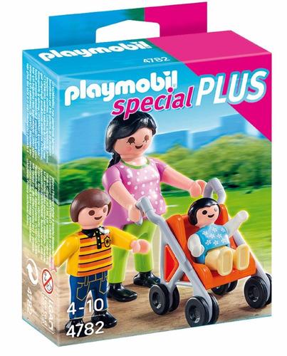 playmobil individual mama paseando niños original