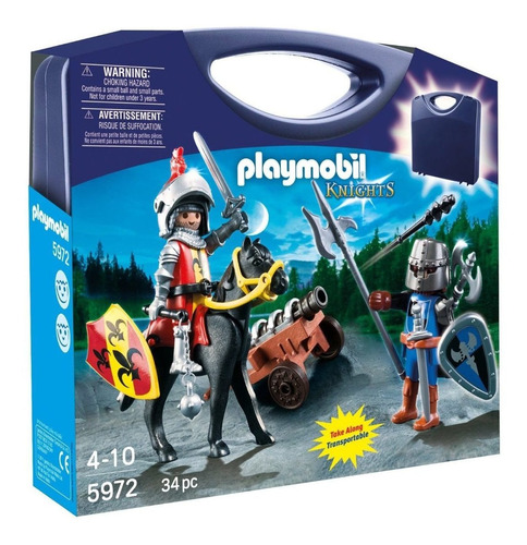 playmobil knights/ maletin caballeros playset 5972
