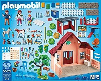 playmobil la clínica del veterinario juego de juego
