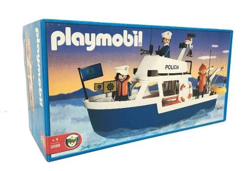 playmobil lancha guardacostas policia original antex
