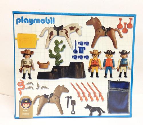 playmobil lejano oeste vaqueros,caballos original antex