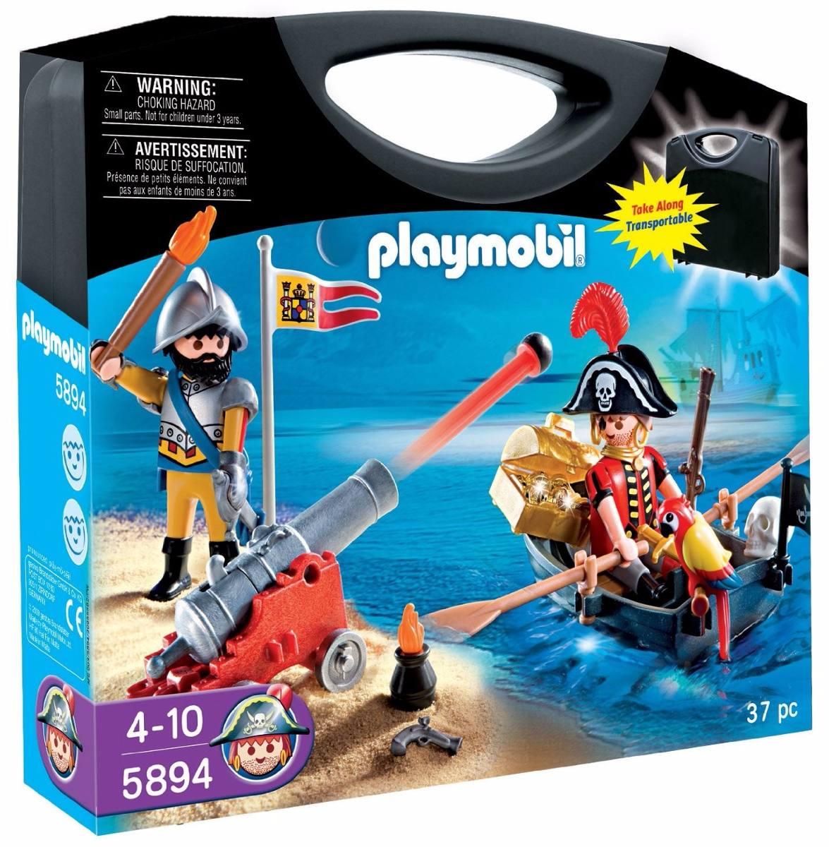 0fd9d4e9c Playmobil Maleta Pirata Cod: 5894 - R$ 120,90 em Mercado Livre