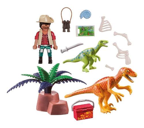 playmobil maletin dinosaurios 70108 dinos 18 pc ink educando