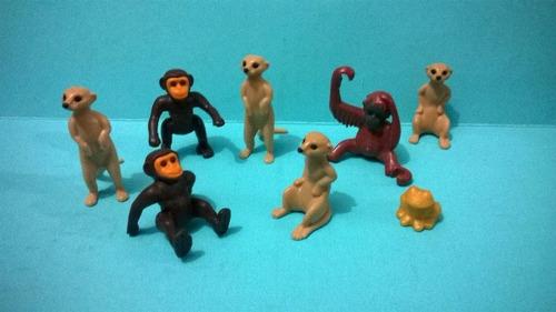 playmobil monos suricatas gorila rana cria animales js b
