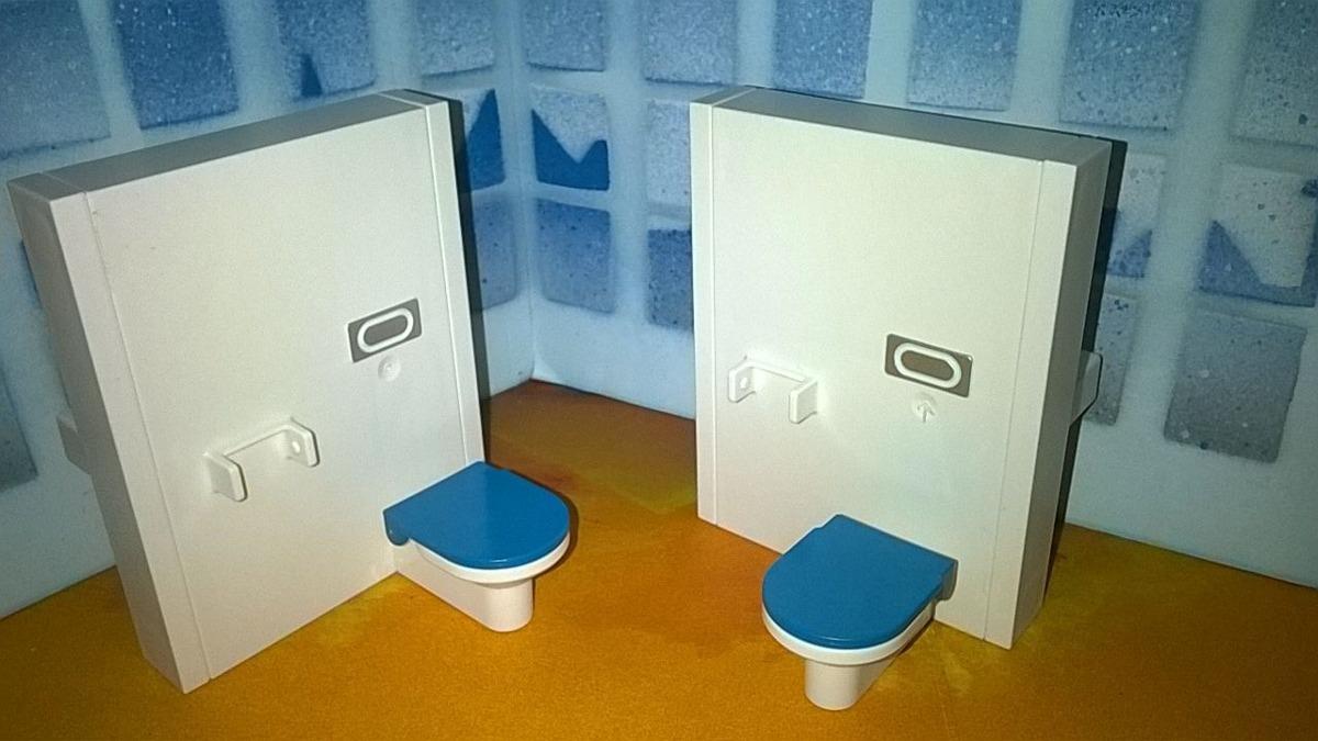 Playmobil Muebles De Ba O Tasa Wc Y Lavabo De Ambas Caras B  # Muebles De Bano Wc