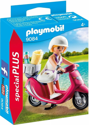 playmobil mujer con scooter 9084 special plus ink educando