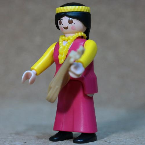 playmobil mujer musica medieval con laud c1 n