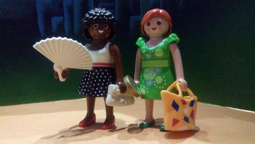 playmobil mujeres damas de ciudad saliendo de compras city b