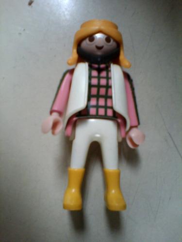 playmobil muñeca geobra 1992 blusa rosa play mobil