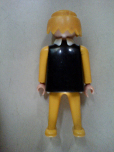 playmobil muñeco geobra 1974 chaleco negro y amarillo