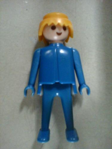 playmobil muñeco geobra 1974 traje azul play mobil
