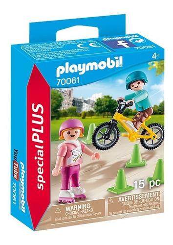 playmobil nenes con bicicleta y patines 70061 special edu
