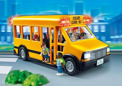 playmobil ônibus escolar - sunny brinquedos - 5680