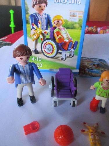 playmobil niño silla ruedas nuevo