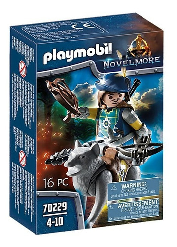 playmobil novelmore 70229  caballero con ballesta y lobo