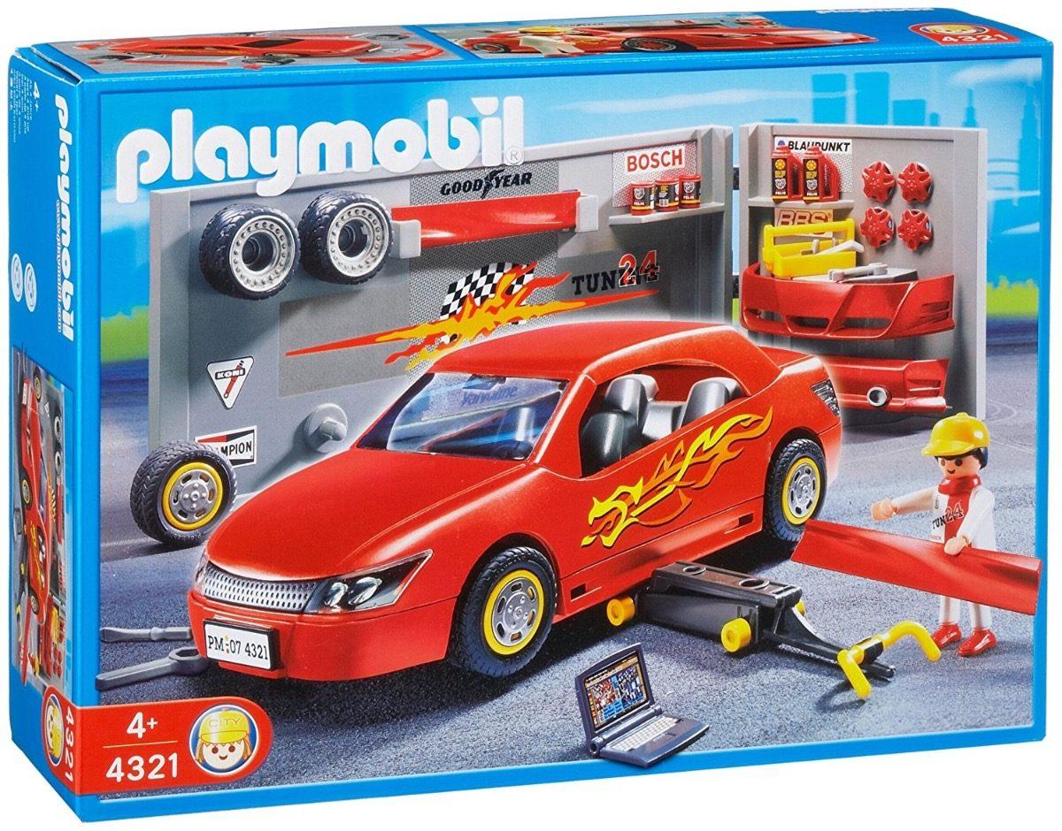 Playmobil oficina de carros r 249 90 em mercado livre - Voiture tuning playmobil ...