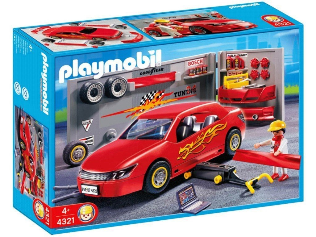 playmobil oficina de carros r 249 90 em mercado livre. Black Bedroom Furniture Sets. Home Design Ideas