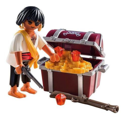 playmobil pirata con cofre del tesoro 9358 original intek