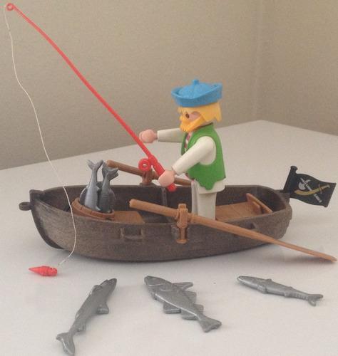 playmobil piratas - barco a remo - 3792