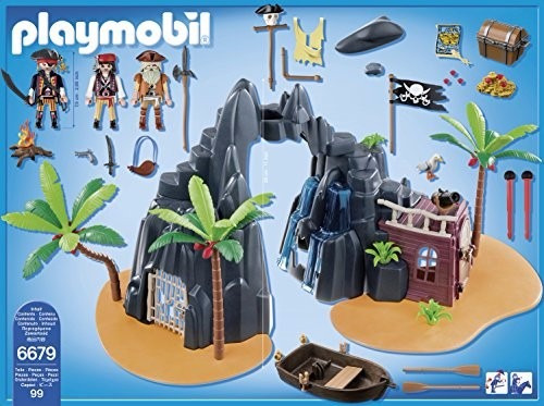 playmobil piratas isla del tesoro pirata original tv