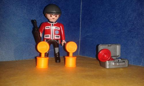 playmobil rescatista alpino con equipo de luces urgencias b