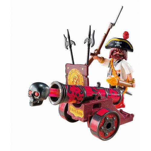 playmobil rojo cañón interactivo con bucanero
