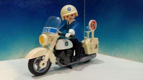 PLAYMOBIL MOTO AZUL GEOBRA 1976 NUNCA USADA ¡¡¡NUEVA!! MOTORCYCLE BLUE