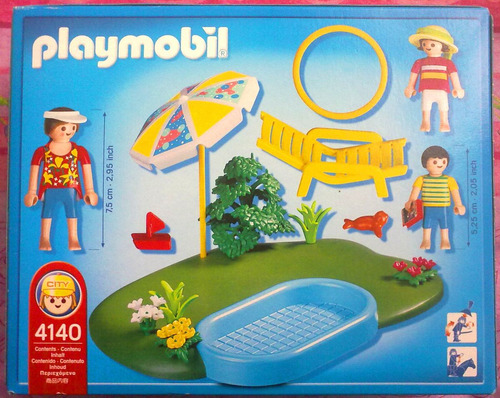 Playmobil set de dia familiar en piscina en for Piscina playmobil