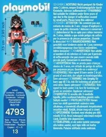 playmobil special plus 4793 caballero de dragon orig intek