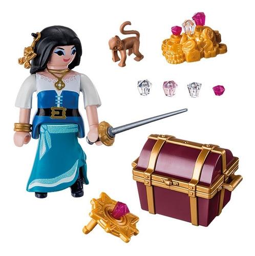 playmobil special plus pirata con tesoro + varios accesorios